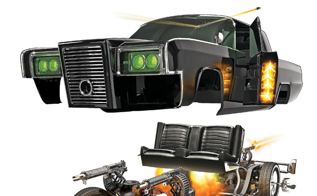 rides cars todd schmidt black beauty green hornet expanded