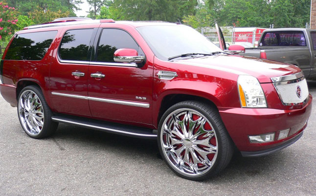 rides cars cadillac escalade tv rear