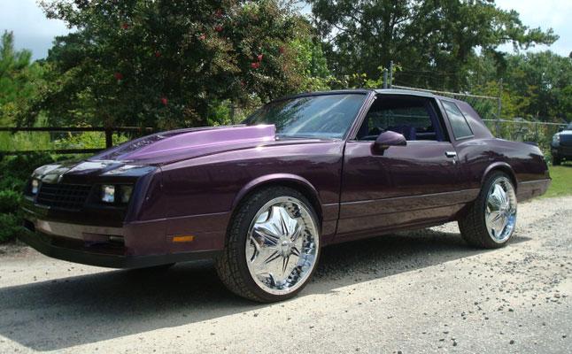 rides cars chevrolet monte carlo purple