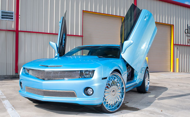 rides cars blue-chevy-camaro-wallpaper