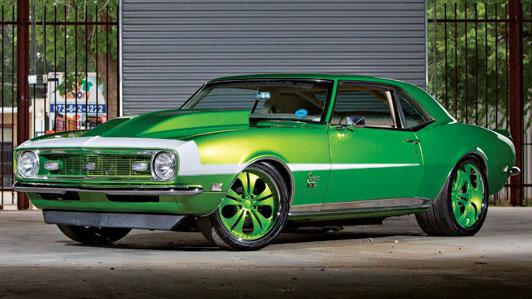 rides cars chevy 1968-chevrolet-camaro-green-texas