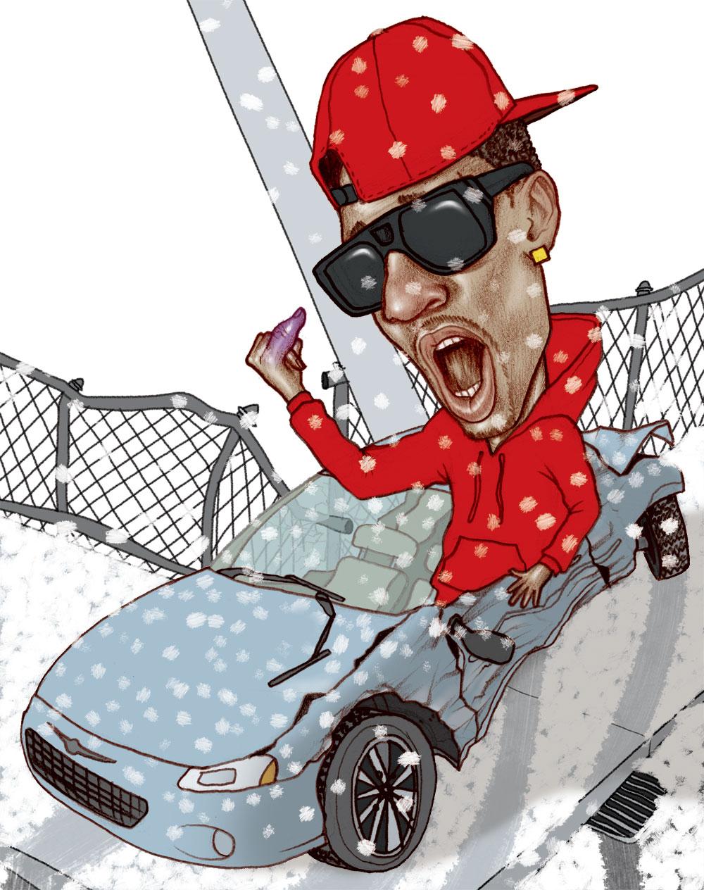 rides cars Big sean crash