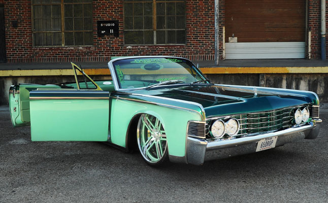 rides cars 1965 lincoln continental sea foam