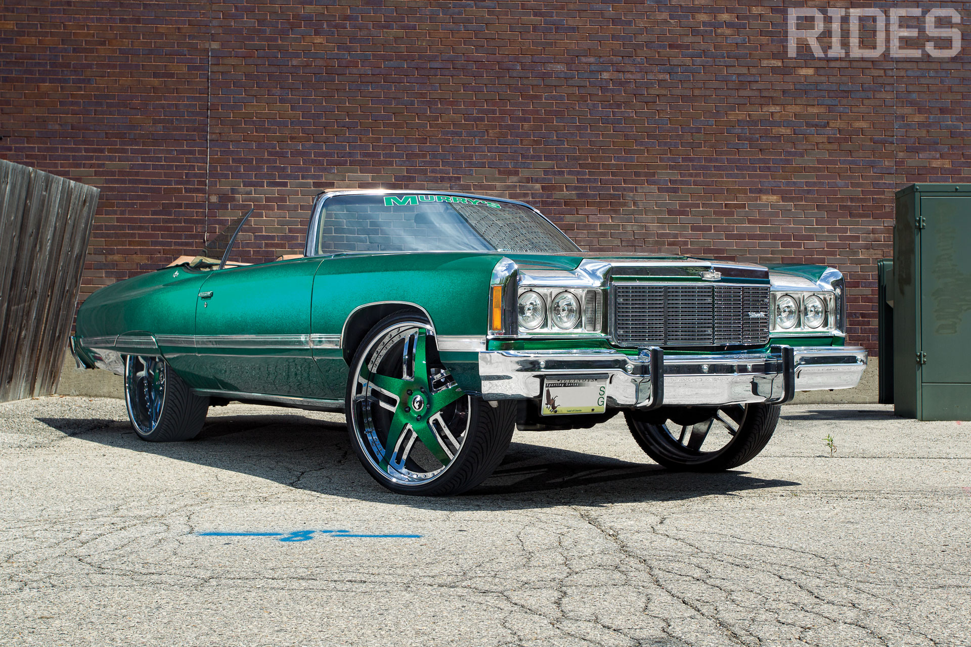 rides cars chevy chevrolet green-donk-74-caprice-wallpaper murry's customs