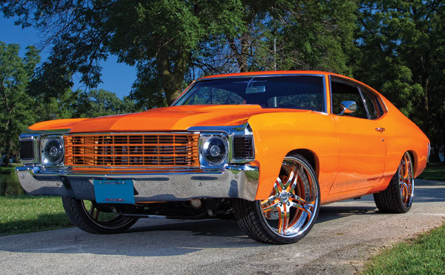 rides cars chevy-chevelle-orange-wallpaper chevrolet 1972