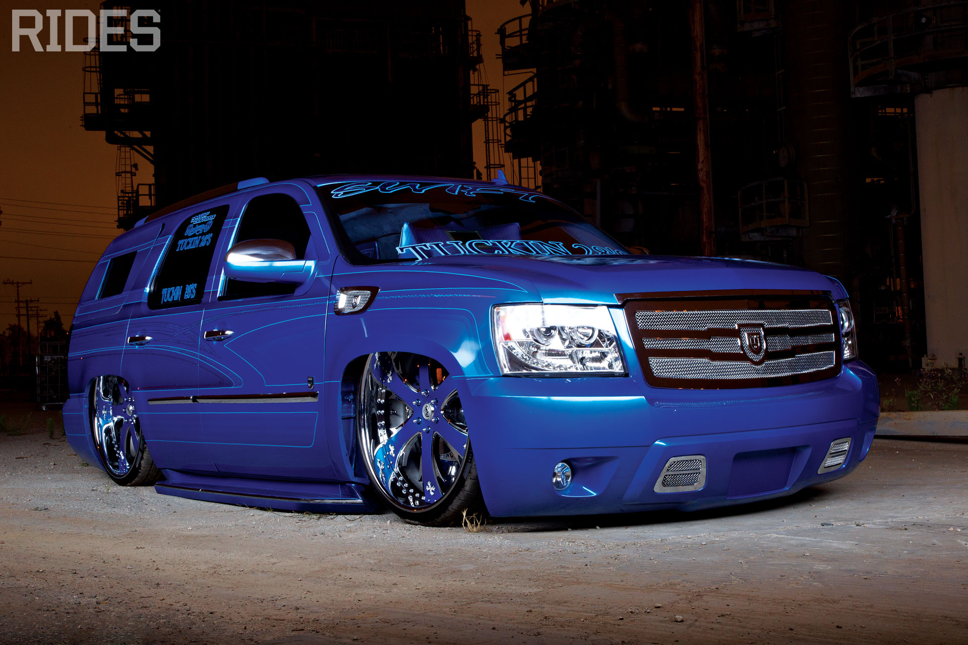 rides cars 2007 2008 chevy chevrolet tahoe tuckin' 28s