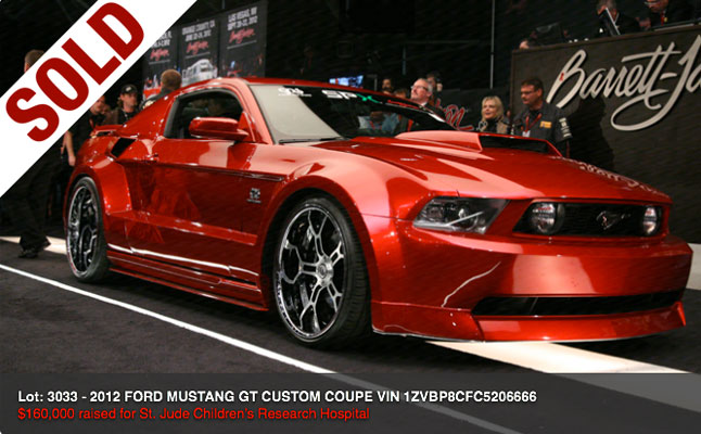 rides cars galpin gas widebody ford mustang barrett jackson sold auction