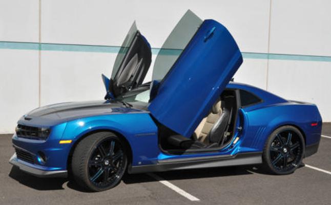 rides cars blue camaro feat