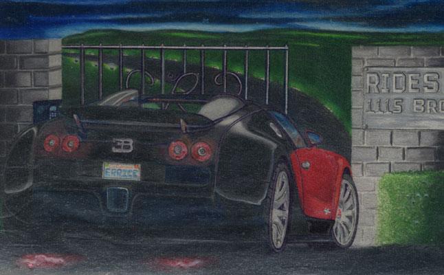 rides cars erricc pickett represa california drawing art