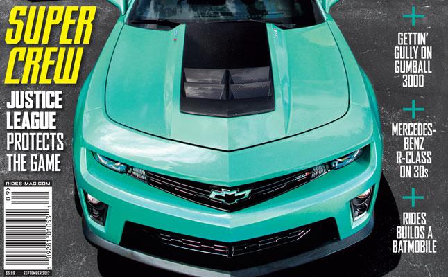 rides cars september 2012 cover justice league camaro miami batmobile issue 57