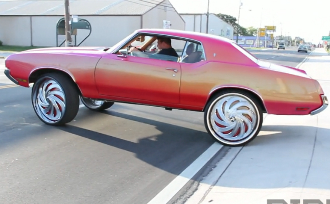 813 customs typical monday rides donk box bubble candy paint rims spinners nasty dub pink
