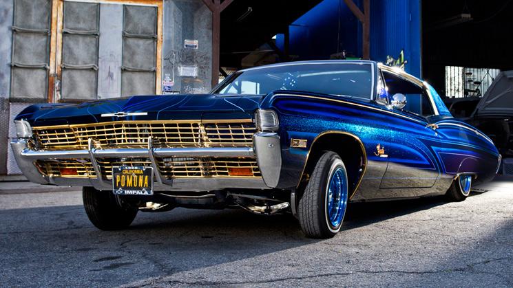 rides cars 1968 chevy chevrolet impala lowrider david topo tiscareno california blue