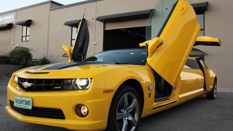 rides chevrolet chevy camaro bumblebee limo limousine transformers v8 ss australia
