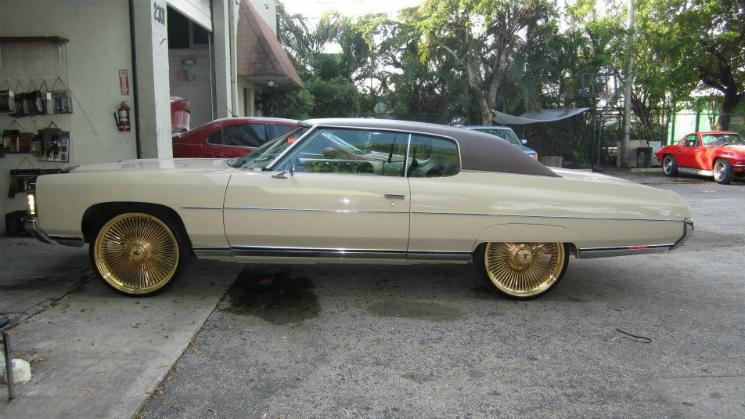 rides chevrolet chevy impala 1971 gold dayton wheels kennys upholstery florida