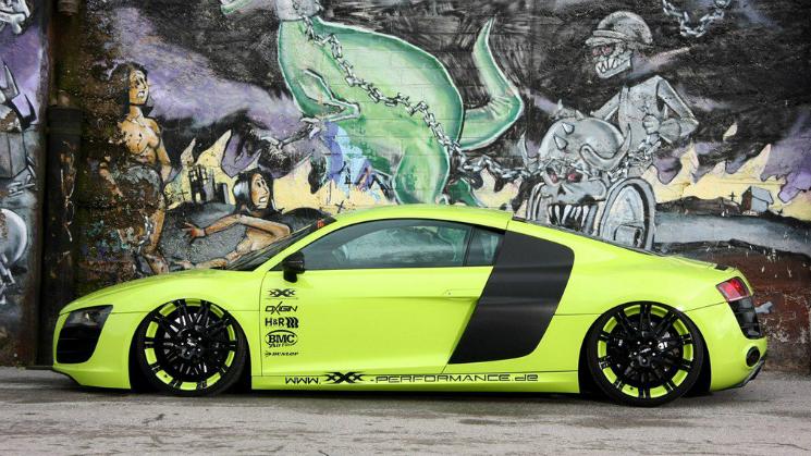 rides green audi r8 modified v10 bochum germany oxigen 14 oxrock xxx performance