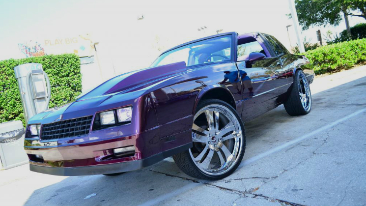 rides candy purple monte carlo ss on forgiato rasoio staggered 24 inch rims wheels kandy big lip