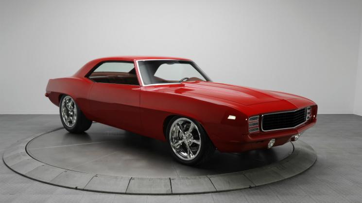 rides red chevrolet camaro ss 1969 rk motoring $219000 super sport v8