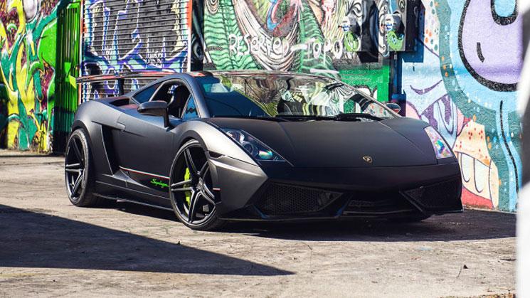 Matte Black Lamborghini Superleggera ADV05.1SL ADV1 green lambo wheels boutique twin turbo