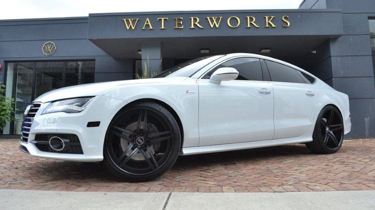 jd martinez audi a7 vellano wheels rims rides white black
