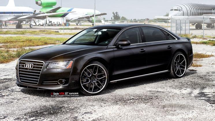 Audi_A8_VCK_rides_black_Vellano_22_inch_mc_customs_miami