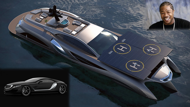 xhibit xhibitionist xzibit yacht car concept gray grey designs