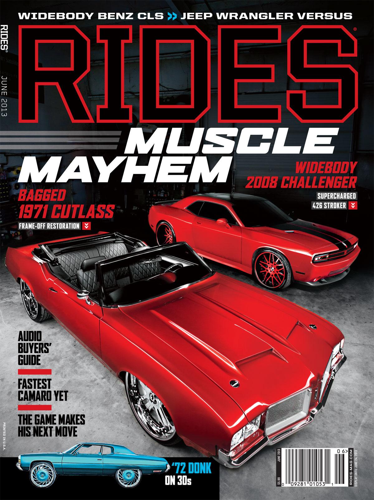 rides magazine june 2013 cover cutlass challenger