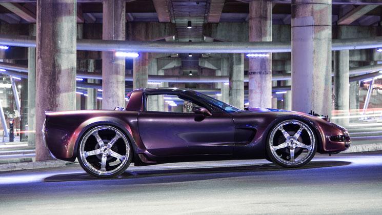 chameleon chevrolet chevy corvette rides flip paint forgiato vette chrome purple