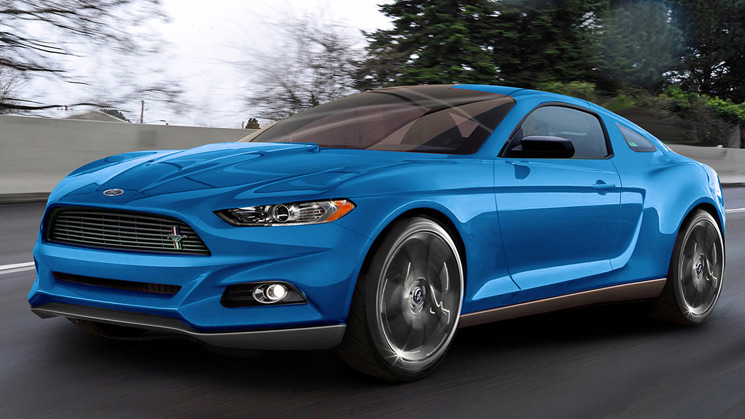 rides 2015 ford mustang concept preview drawing illustration