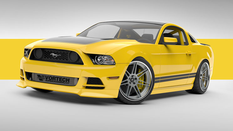 2014-Ford-Mustang-GT-Project-Yellow-Jacket-rides-sema-vortech-supercharger