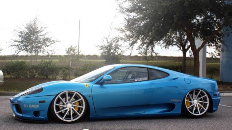 rides magazine Slammed Ferrari 360 Modena Vossen CVT Wheels
