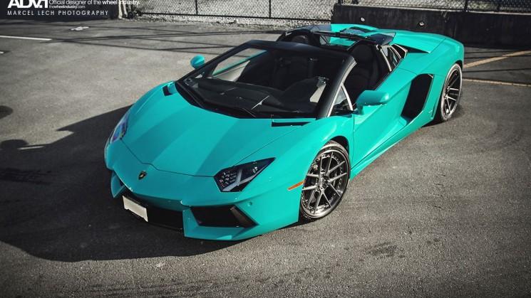 rides magazine lamborghini aventador roadster blu glauco adv.1
