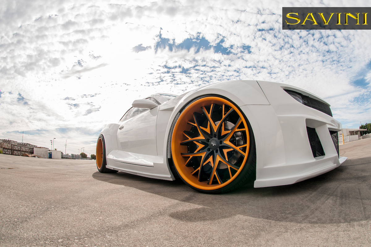 Widebody Camaro On Matte Gold Savini Wheels Rides Magazine