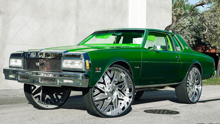 rides magazine green chevrolet impala box chevy forgiato slime