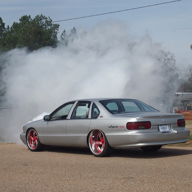 1996 Impala SS In Flames At Lone Star Throwdown (Pics ...