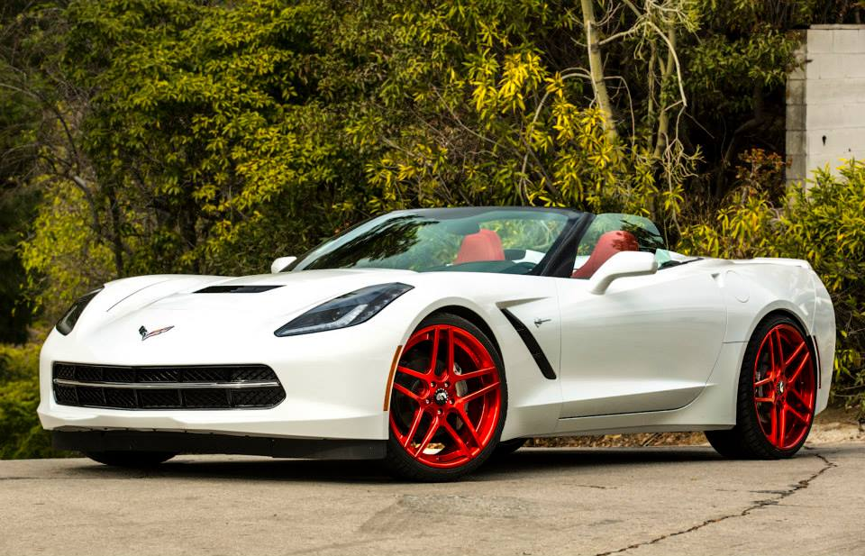 Corvette C7 Stingray On Red Forgiatos In Hollywood Rides