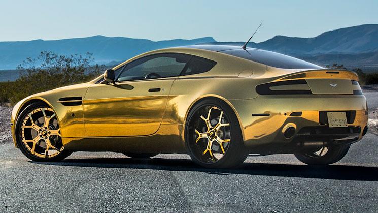 rides magazine forgiato gold aston martin vantage chrome gold wheels rims