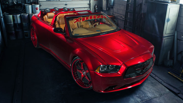 xplizit car club chrysler 300c dodge charger r/t front clip milwaukee players choice customizing custom car fiberglass interior convertible rides magazine