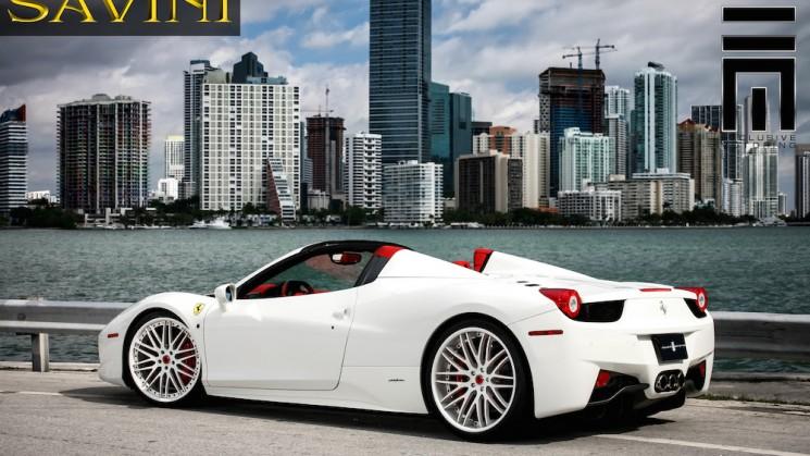ferrari 458 spider savini wheels exclusive motoring miami florida rides magazine raymond niece