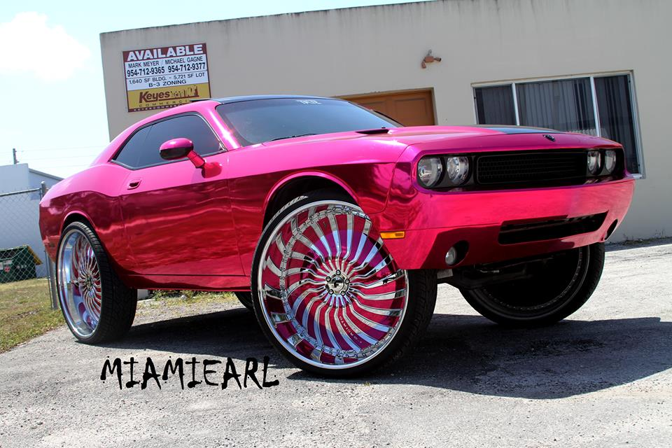 Challengers With Rims >> Pink Chrome Challenger On 32-Inch Forgiato Wheels - Rides Magazine