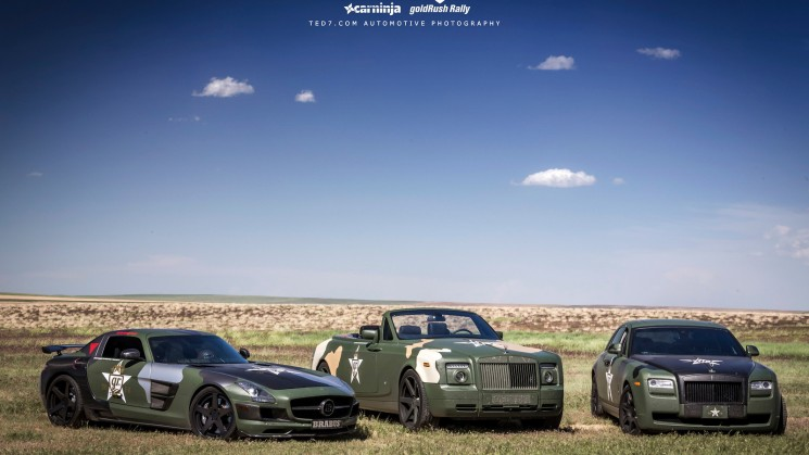 Rolls Royce, Mercedes, Goldrush rally