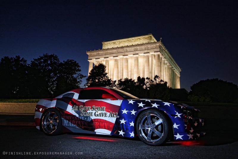 American Flag Race Car Wrap