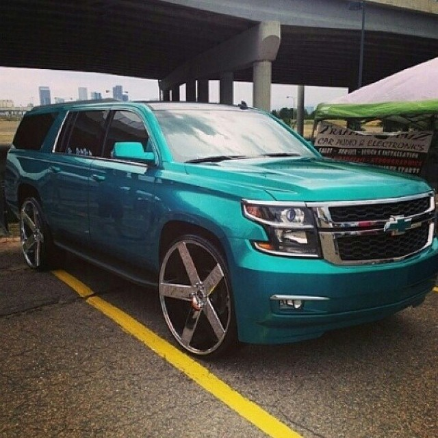 "Lowrider Rims And Tires >> 2015 Chevy Suburban On 30"" Dub Baller Wheels - Rides Magazine"