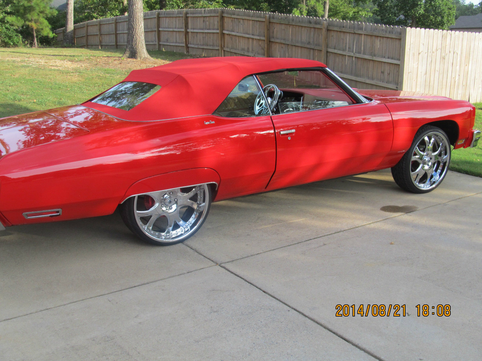 1975 chevy caprice convertible on asanti wheels for sale. Black Bedroom Furniture Sets. Home Design Ideas